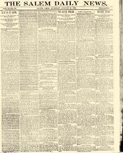 Salem Daily News, August 26, 1890, Page 1