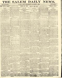 Salem Daily News, October 09, 1890, Page 1