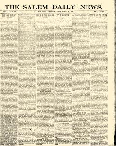 Salem Daily News newspaper archives