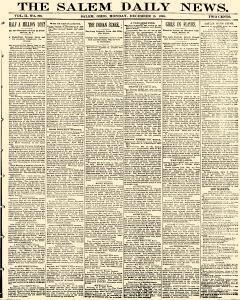Salem Daily News, December 15, 1890, Page 1