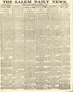 Salem Daily News, December 19, 1890, Page 1