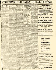 Steubenville Daily Herald And News, March 23, 1875, Page 1