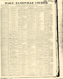 Zanesville Courier, June 21, 1852, Page 1