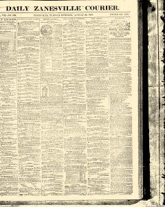 Zanesville Courier, August 30, 1853, Page 1