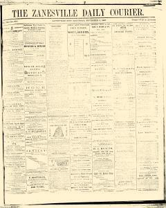 Zanesville Daily Courier, November 04, 1865, Page 1