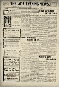 Ada Evening News, January 04, 1905, Page 1