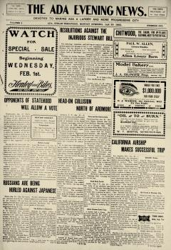 Ada Evening News, January 30, 1905, Page 1