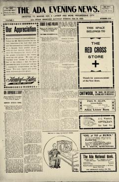 Ada Evening News, February 18, 1905, Page 1