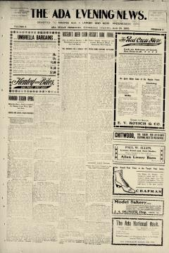 Ada Evening News, March 29, 1905, Page 1