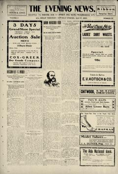 Ada Evening News, May 27, 1905, Page 1
