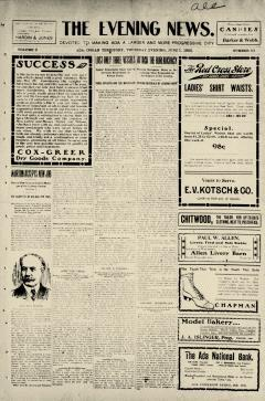 Ada Evening News, June 01, 1905, Page 1