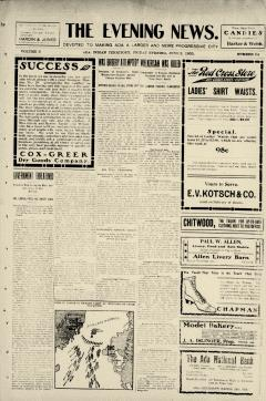 Ada Evening News, June 02, 1905, Page 1
