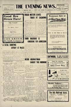 Ada Evening News, June 08, 1905, Page 1