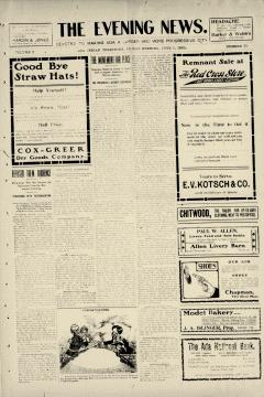 Ada Evening News, June 09, 1905, Page 1