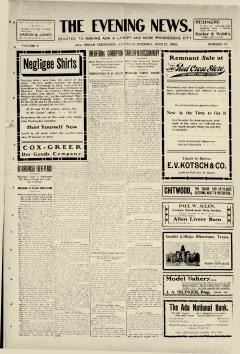Ada Evening News, June 17, 1905, Page 1
