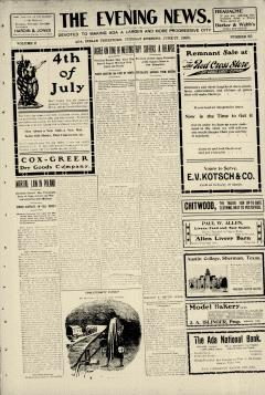 Ada Evening News, June 27, 1905, Page 1