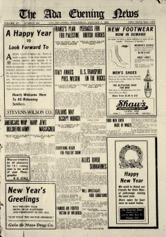Ada Evening News, January 01, 1919, Page 1