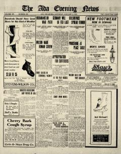 Ada Evening News, January 04, 1919, Page 1