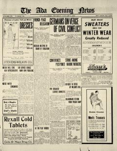 Ada Evening News, January 09, 1919, Page 1