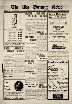 Ada Evening News, February 06, 1919, Page 1