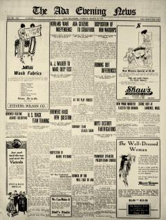 Ada Evening News, March 18, 1919, Page 1