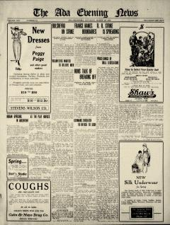 Ada Evening News, March 29, 1919, Page 1