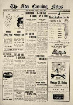 Ada Evening News, May 27, 1919, Page 1