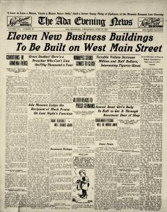 Ada Evening News, June 25, 1919, Page 1
