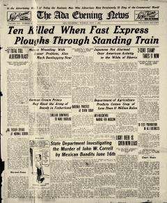 Ada Evening News, July 01, 1919, Page 1