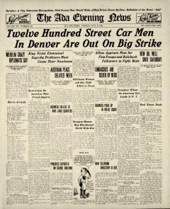 Ada Evening News, July 08, 1919, Page 1