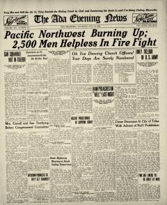 Ada Evening News, July 24, 1919, Page 1