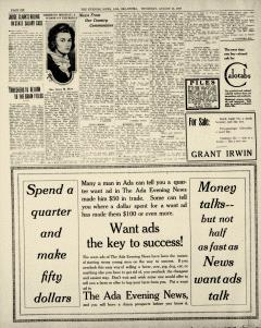 Ada Evening News, August 21, 1919, Page 6