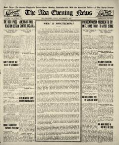 Ada Evening News, September 05, 1919, Page 1