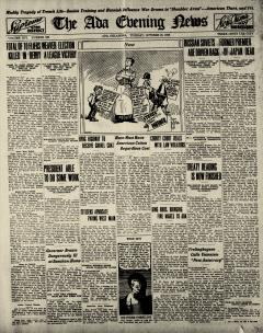 Ada Evening News, October 21, 1919, Page 1