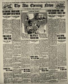 Ada Evening News, October 24, 1919, Page 1