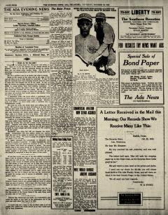 Ada Evening News, October 30, 1919, Page 4