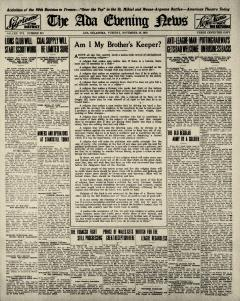 Ada Evening News, November 18, 1919, Page 1