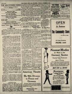 Ada Evening News, November 18, 1919, Page 4