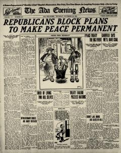 Ada Evening News, November 20, 1919, Page 1