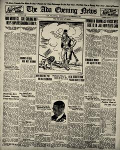 Ada Evening News, December 31, 1919, Page 1