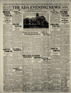 Ada Evening News, May 28, 1926, Page 1