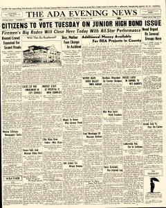 Ada Evening News, August 14, 1938, Page 1
