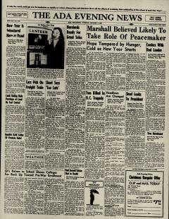 Ada Evening News, January 01, 1946, Page 1