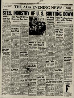 Ada Evening News, January 20, 1946, Page 1