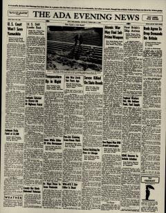 Ada Evening News, February 04, 1946, Page 1