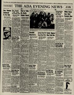 Ada Evening News, February 11, 1946, Page 1