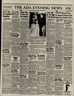 Ada Evening News, February 20, 1946, Page 1