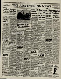 Ada Evening News, February 25, 1946, Page 1