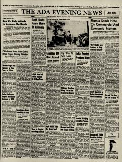 Ada Evening News, March 15, 1946, Page 1