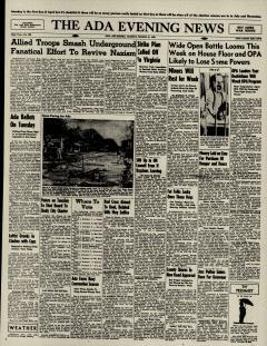 Ada Evening News, March 31, 1946, Page 1